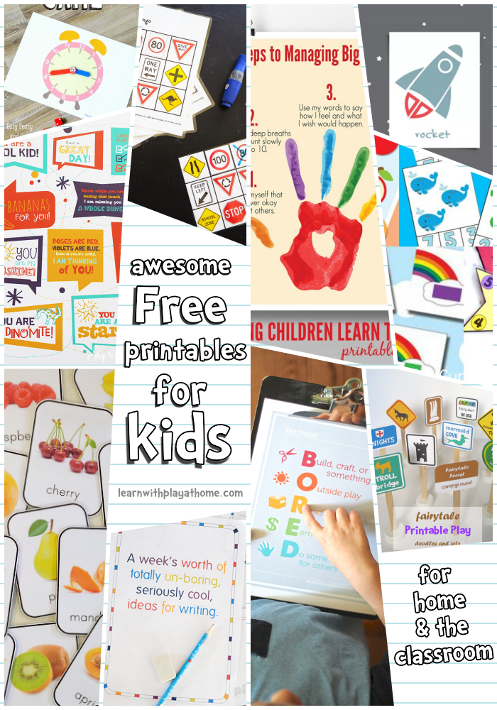 Learn with Play at Home: 10 Awesome Free Printables for Kids at home ...