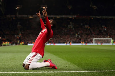 Odion Ighalo scores his first goal for Manchester United