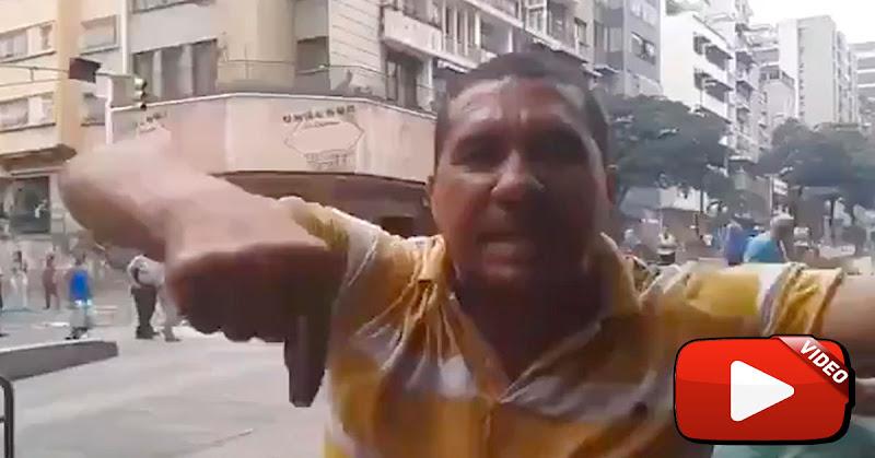 Chavista ebrio dice que Juan Guaidó apretó el botón y apagó la luz