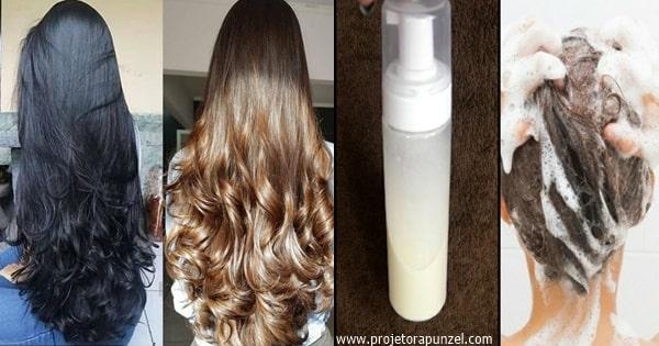shampoos caseiros para o crescimento do cabelo