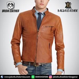 Jual Jaket Kulit Asli Garut Pria Domba Original Brida Leather B80 | WA 08813430588