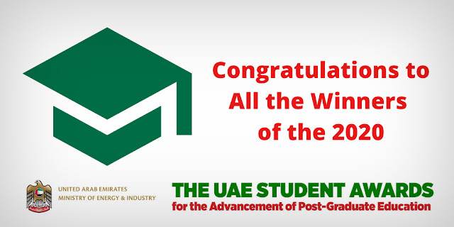All Four Student Winners – Two Ph.D. & Two Masters – Attended UAE Universities and were Honored at a Ceremony Hosted by New York University Abu Dhabi