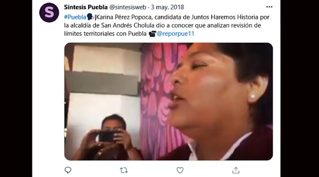 Karina Pérez Popoca incumplió promesa de campaña, aseguró que recuperaría zona que entregó Miguel Huepa