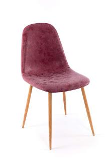 silla comedor tapizada color vino