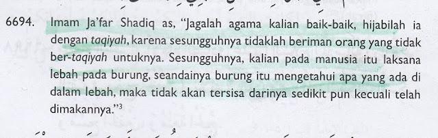 Aqidah Sesat Syiah: Agama Haruslah Ditutupi dengan Taqiyah