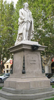 This statue of Alfieri is a feature of Piazza Alfieri in Asti