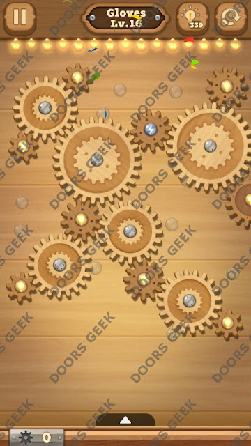 Fix it: Gear Puzzle [Gloves] Level 16 Solution, Cheats, Walkthrough for Android, iPhone, iPad and iPod