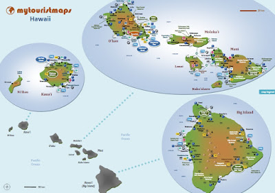 Hawaii interactive tourist travel map
