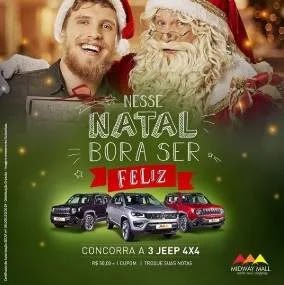 Promoção Midway Mall Shopping Natal 2019 3 Jeeps 4x4