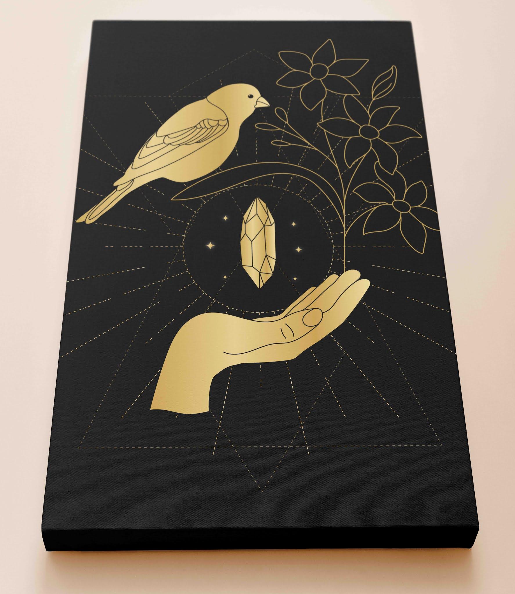 تابلوهات مخصصة للطباعة باللون الاسود مزخرفة بنقوش ذهبية جمال واناقة التصميم