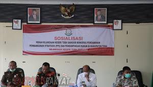 Kejari Tobasa Sosialisasikan Pengamanan Pembangunan Strategis  dan Pendampingan Hukum