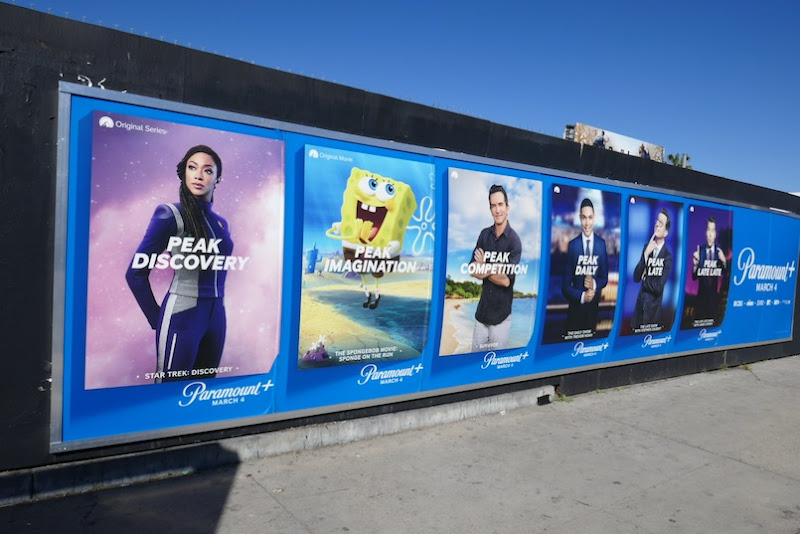 Paramount plus launch street posters