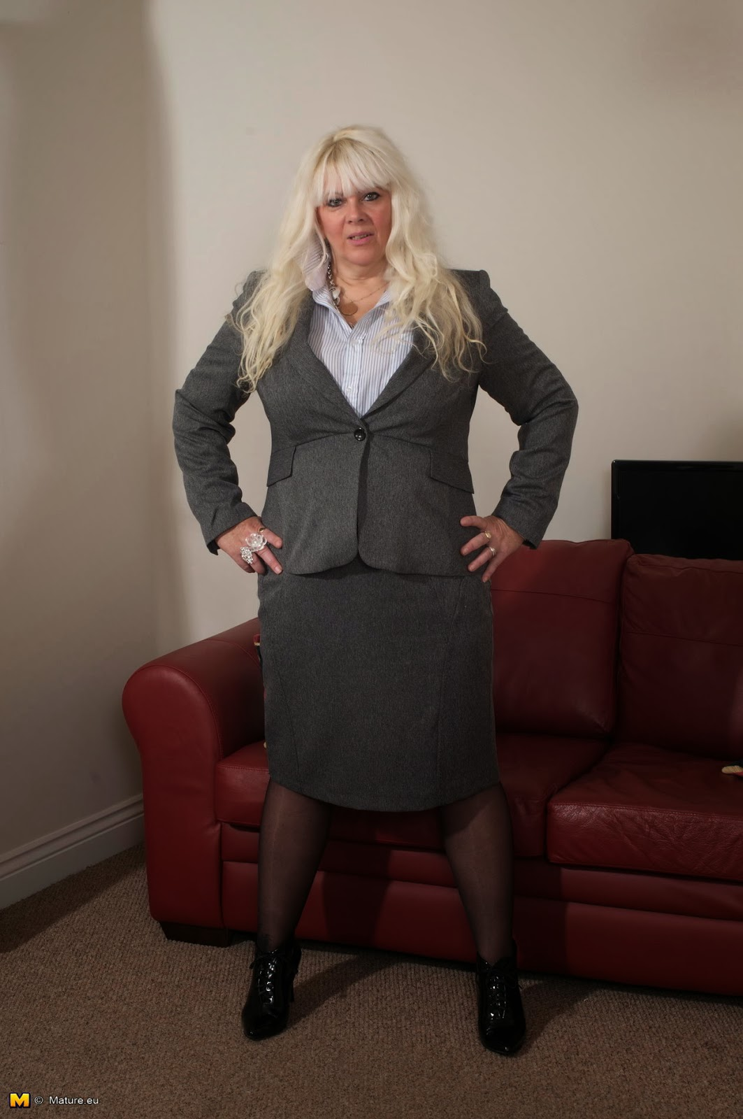 Blonde mature ebony orgy