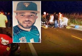 Jovem morre após cair de moto