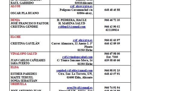 Calendario Laboral 2020 Comunidad Valenciana Dogv.Csif Sanidad Alicante Equipo Csif Sanidad Alicante