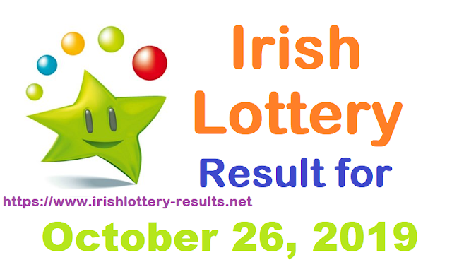 Irish Lottery Results for Saturday, October 26, 2019
