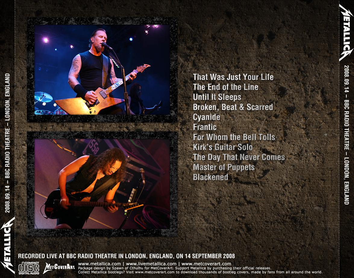 Metallica Concert Setlist at BBC Radio Theatre, London on ...