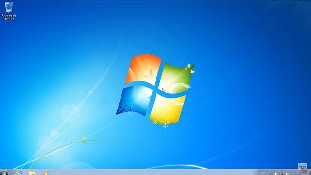 listo ya puedes ver como se ve la pantalla completa de windows 7 instalado en VirtualBox