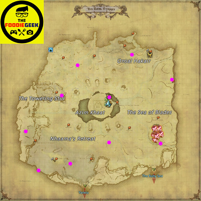 Final Fantasy XIV: Stormblood All Aether Current Locations - Azim Steppe