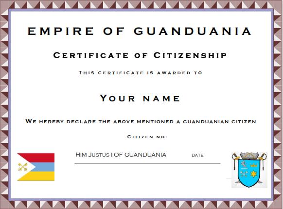 Apply for Guanduanian Citizenship