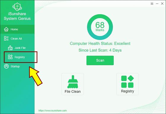 click registry options
