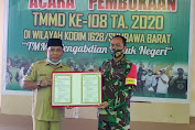TMMD 108 Kodim 1628/SB Resmi Dibuka Bupati Kab Sumbawa Barat