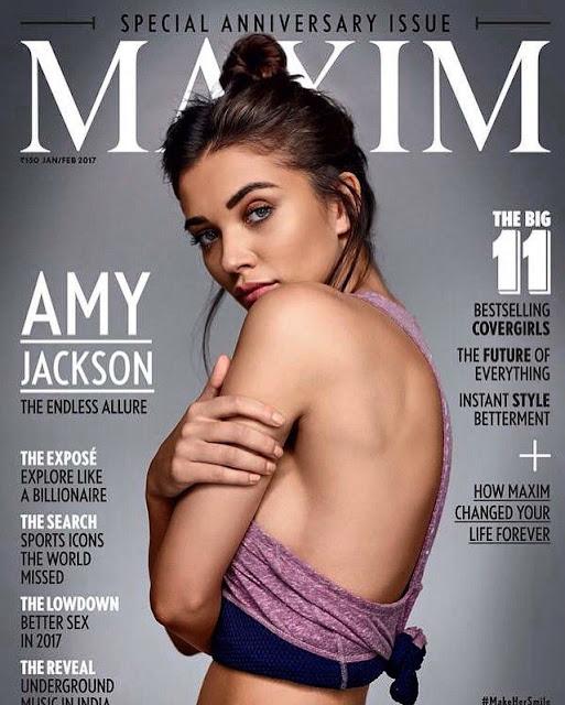 Amy jackson latest photoshoot poses for MAXIM