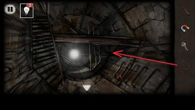в туннеле отрезаем веревку в игре выход из заброшенной шахты
