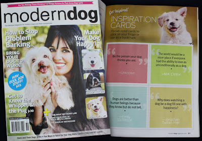 Modern Dog magazine Inspiration Cards