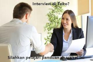 conroh pertanyaan dan jawaban interview kerja di toko