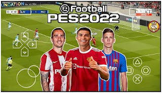 Download eFootball PES 2022 PPSSPP Add Tatto Latest Kits And Transfer Best Graphics Commentary Peter Drury