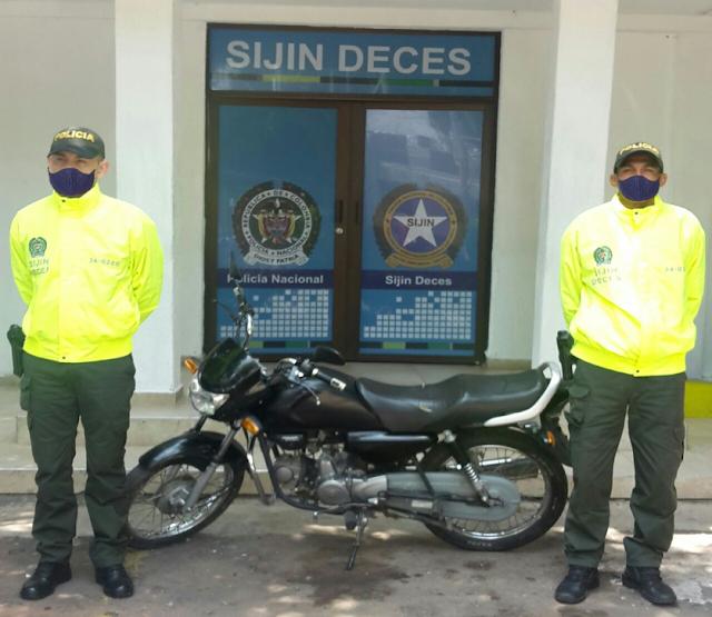 hoyennoticia.com, Moto robada en San Joaquín apareció en Los Fundadores