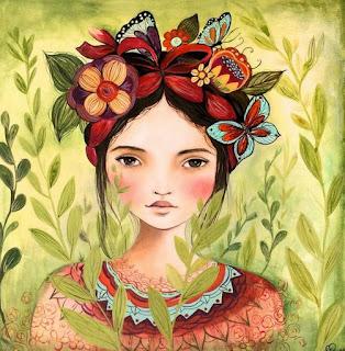 pinturas-con-temas-indígenas-arte-en-oleo cuadros-indigenas-mujeres