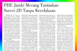 PHE Jambi Merang Complete 2D Survey Without Accident
