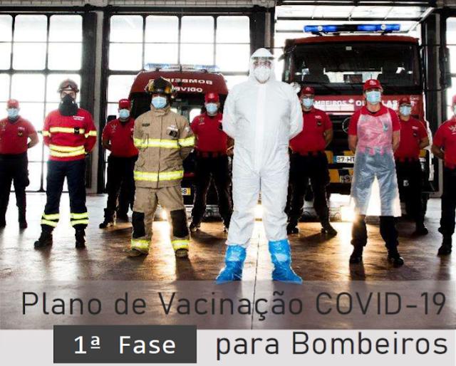 Plano de Vacinação COVID-19 para Bombeiros (1ª Fase)