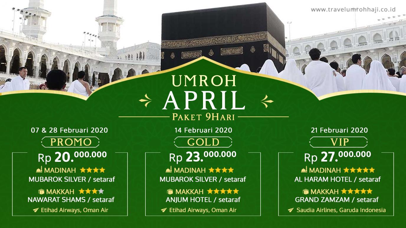 Promo Paket Umroh Biaya Murah Jadwal Bulan April 2020