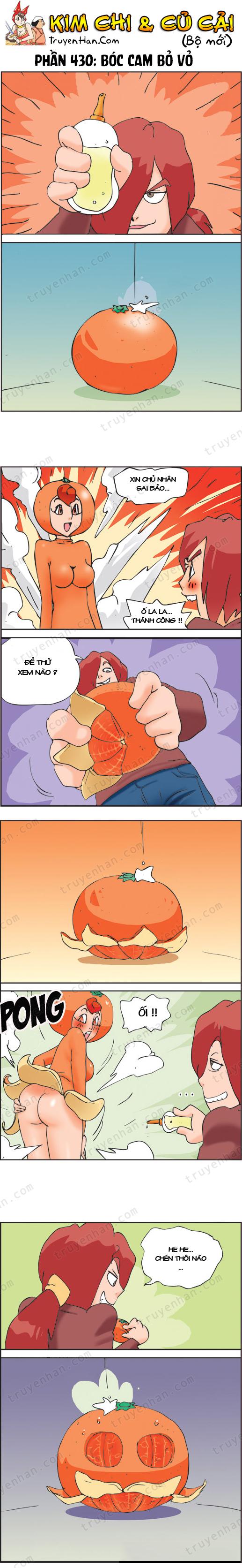 Kim Chi & Củ Cải (bộ mới) phần 430: Bóc cam bỏ vỏ
