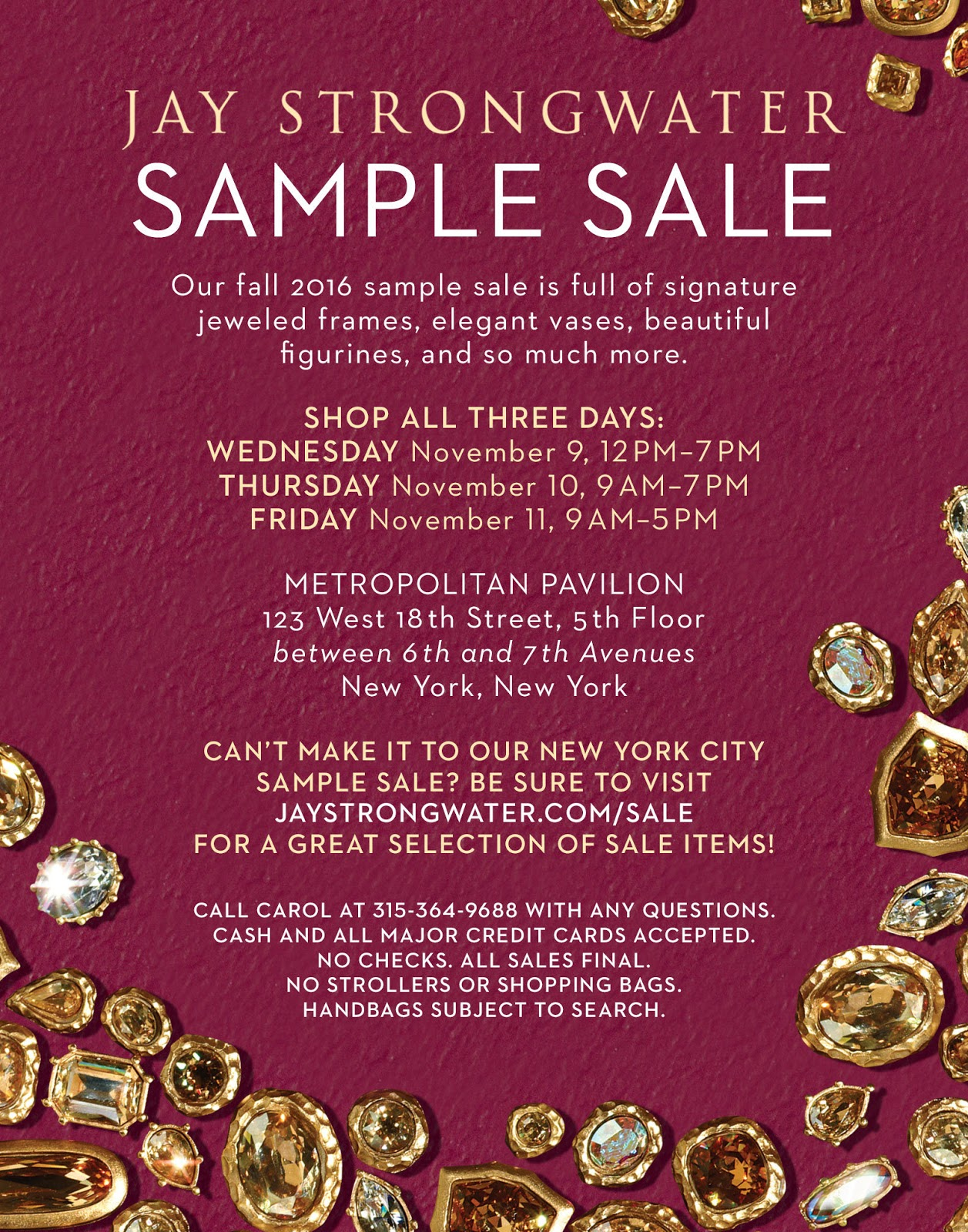 adba9f9c64e fashionably petite  Jay Strongwater + MacKenzie-Childs Sample Sale ...