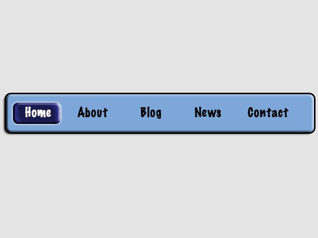 Navigation Bar for web page