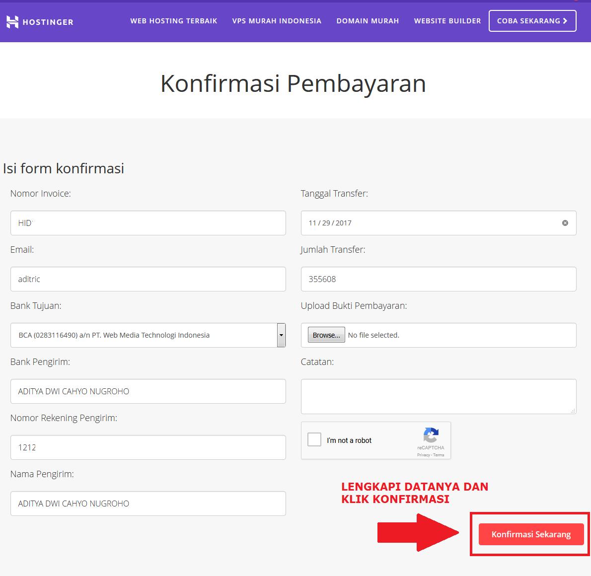Tutorial Cara Sewa Hosting Gratis Domain Di Hostinger Co Id Aditya Web Com