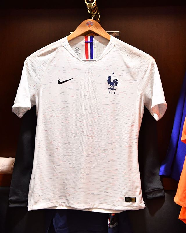 871638c27c5 The France 2018 World Cup away kit introduces a unique look with a distinct  graphic print across the entirety of the design