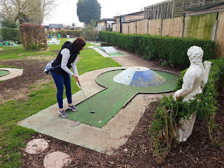 Crazy Golf at Fletchers Family Garden Centre in Eccleshall, Staffordshire