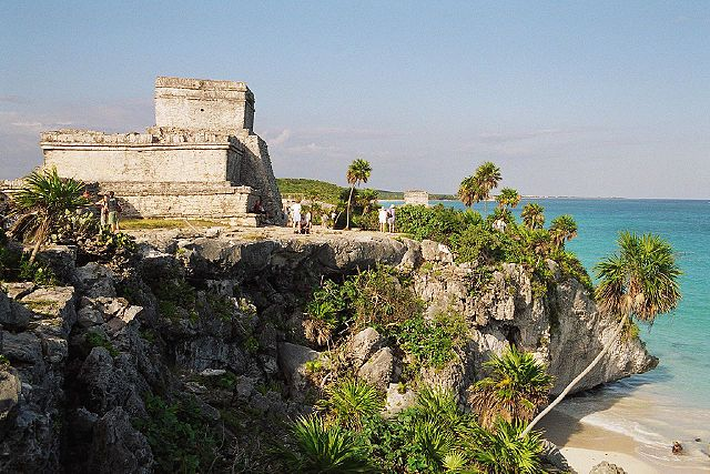 The cliff city of Tulum, Mexico