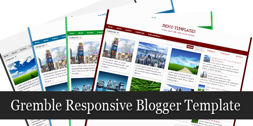 Gremble Responsive Blogger Template by MKR