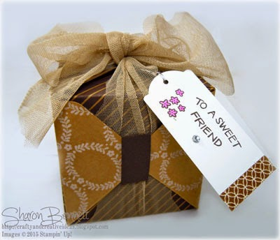 Stampin Up Gift Box with Punch Board and VIDEO