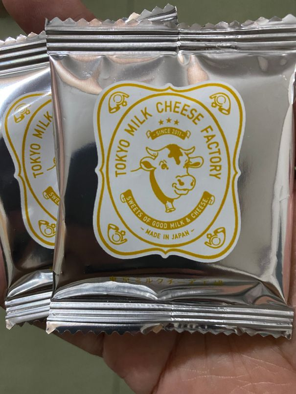 Individually-wrapped cookies from Tokyo Milk Cheese Factory