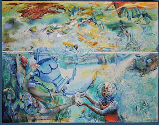 """Please join the artist and learn about her series of paintings called """"Future Awash"""""""