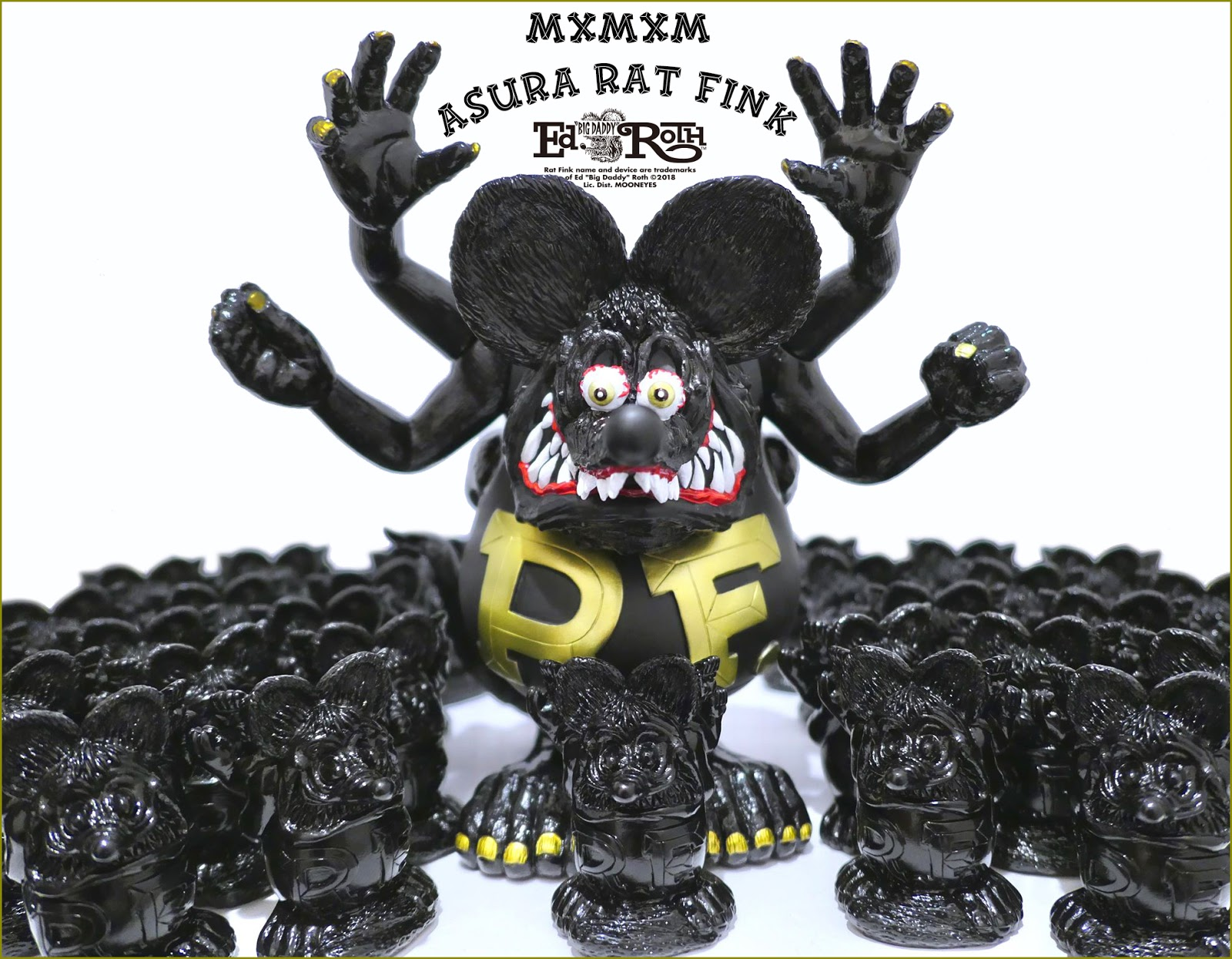 MxMxM: ASURA RAT FINK (Black+Gold Edition) from Blackbook