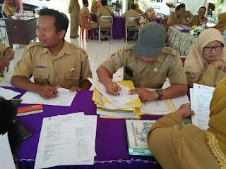MONEV DANA DESA TAHAP I oleh PMD (Pendamping Desa) Kabupaten Gresik di Pendopo Kecamatan Gresik
