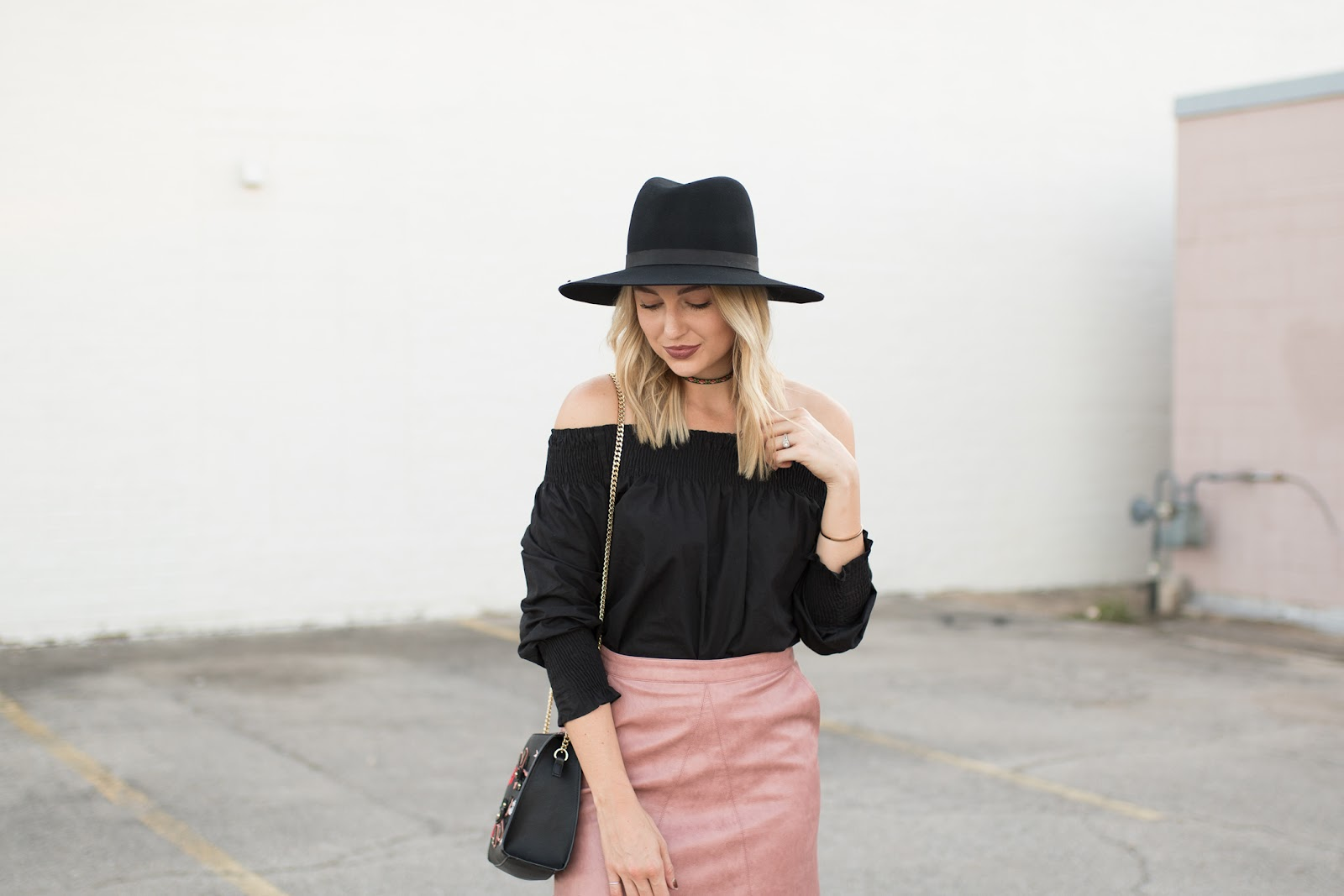 Zara off-shoulder top